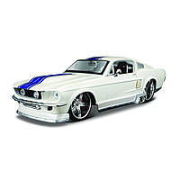 Автомодель (1:24) 1967 Ford Mustang GT белый металлик - тюнинг
