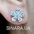 Серебряные серьги гвоздики - Серебряные пусеты - Серьги гвоздики серебро, фото 3