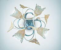Люстра в стиле флористика 4-х ламповая