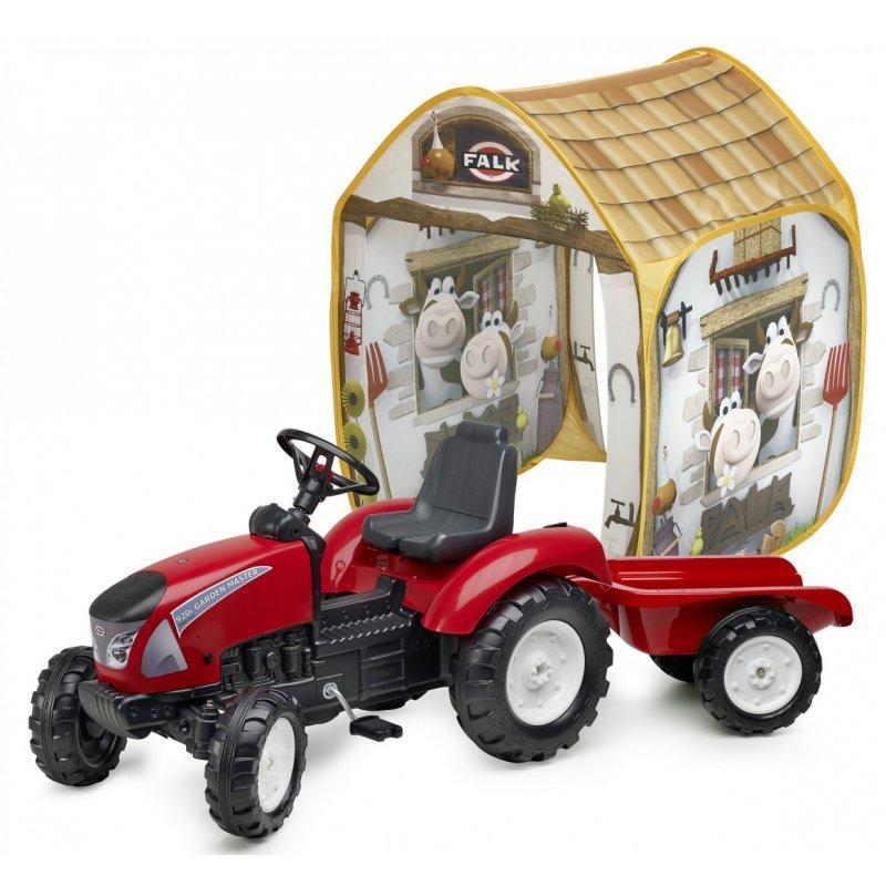 Педальный трактор Falk 3021AT Garden Master с прицепом в комплекте с палаткой