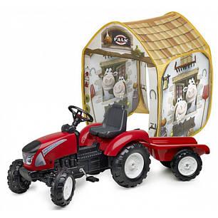 Педальный трактор Falk 3021AT Garden Master с прицепом в комплекте с палаткой, фото 2