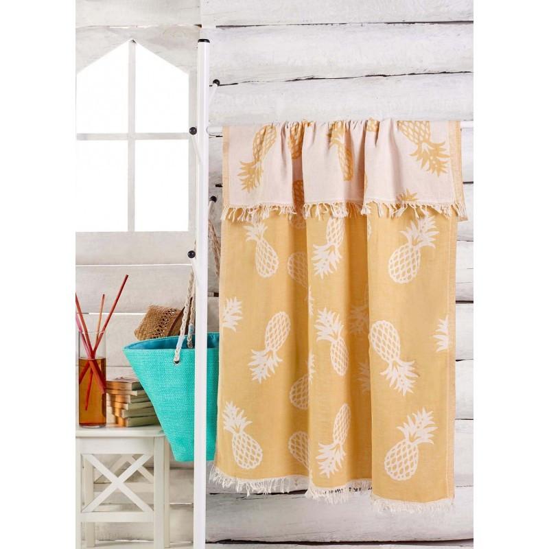 Рушник Eponj Home Jakarli - Ananas koyu sari жовтий 100*180