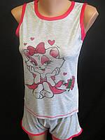 Пижамки молодежные без рукавов с шортиками., фото 1