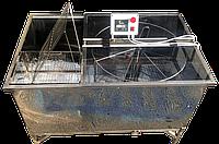 Медогонка диагональная 4-х рамочная автомат нержавейка, Бистар, фото 1