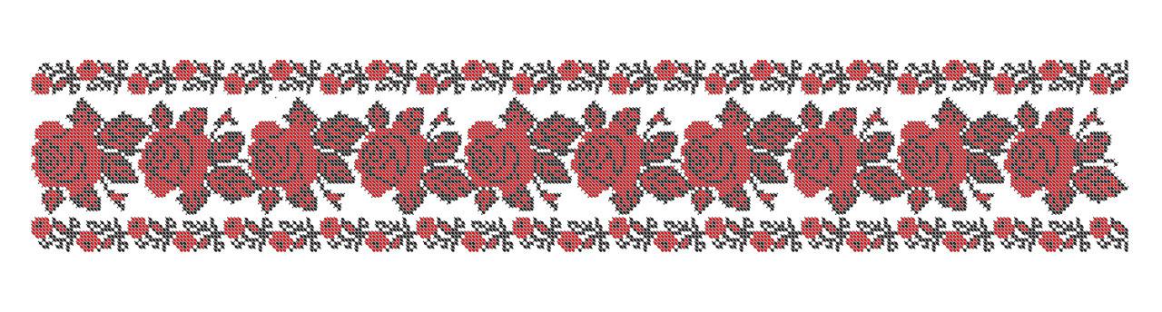 Розы пояс для вышивки бисером