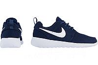 Мужские кроссовки Nike Roshe Run темно-синие, фото 1