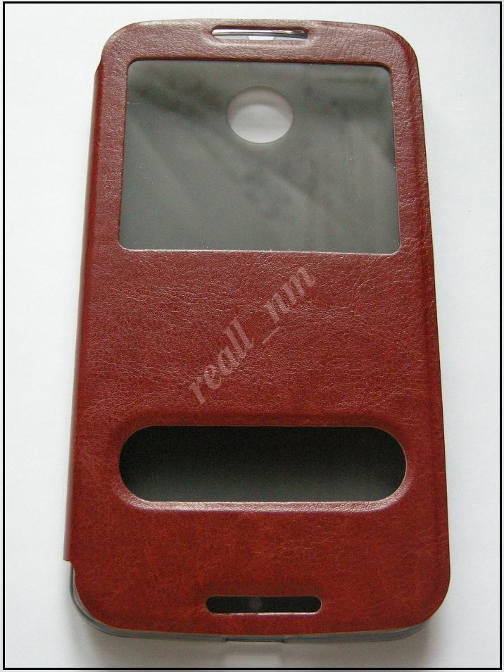 Коричневый кожаный чехол-книжка для смартфона Motorola Nexus 6  XT1100 XT1103