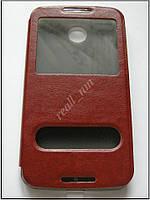 Коричневый кожаный чехол-книжка для смартфона Motorola Nexus 6  XT1100 XT1103, фото 1
