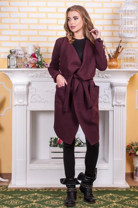 Модный женский кардиган трикотажный с поясом Универсальный размер 46-48