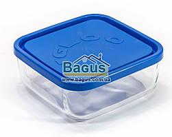 Емкость (судок) для продуктов 0,95л 14х14см квадратная стеклянная с пластиковой крышкой Borgonovo 14069000