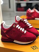 Модные женские кроссовки LOUIS VUITTON красные (реплика), фото 1