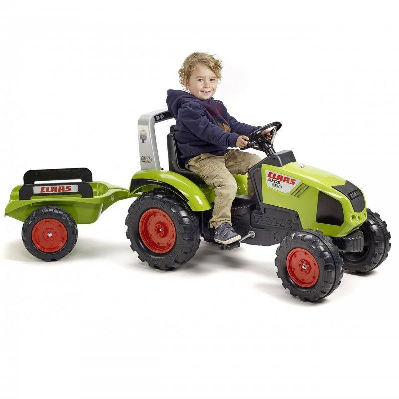 Трактор на педалях Falk 1011AB Claas з причепом