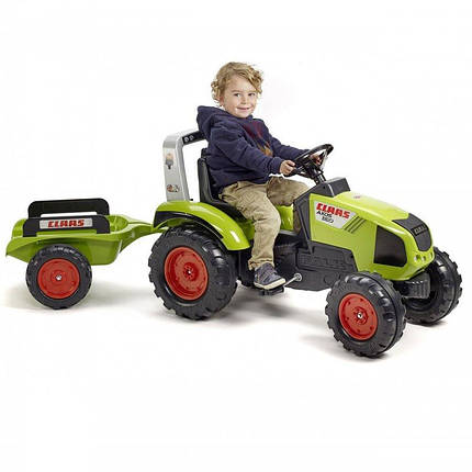 Трактор на педалях Falk 1011AB Claas з причепом, фото 2