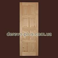 Двери из массива дерева 70см (глухие) f_0570