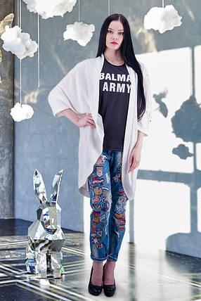 Модный женский кардиган трикотажный О-силуэта размер 42-44,46-48,50-52, фото 2
