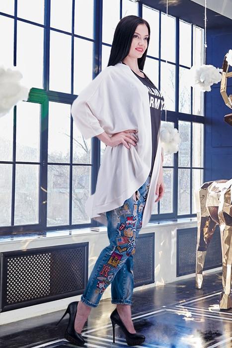 Модный женский кардиган трикотажный О-силуэта размер 42-44,46-48,50-52