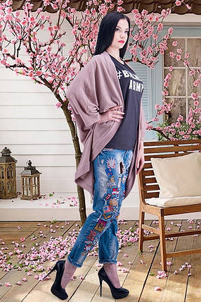 Модный женский кардиган трикотажный О-силуэта размер 42-44, фото 2