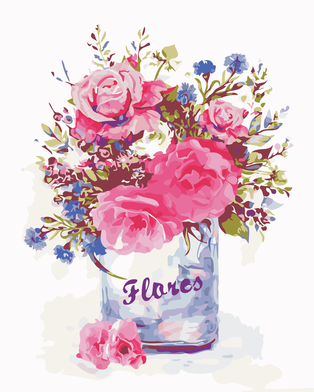 Художественный творческий набор, картина по номерам Цветочный стиль, 40x50 см, «Art Story» (AS0345)