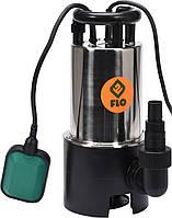 Насос для грязной воды FLO сетевой, 900Вт, 16000 л / ч, макс.висота- 15,5 м, корпус из нерж. стали - VOREL