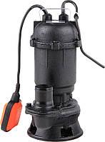 Насос для грязной воды FLO сетевой, чугунный, с измельчителем, 450Вт, 16000 л / м, макс.висота- 9 м - VOREL