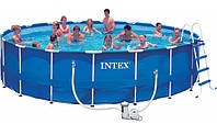 Бассейн каркасный круглый Intex 54938 Metal Frame™ 732х132 см фильтр-насос