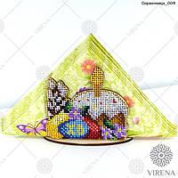 Набор для вышивания бисером по дереву  Салфетница  004
