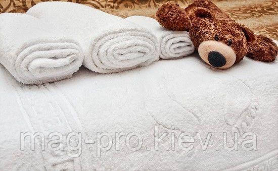 Махровое полотенце  плотность 430гр/м2 Пакистан-белое