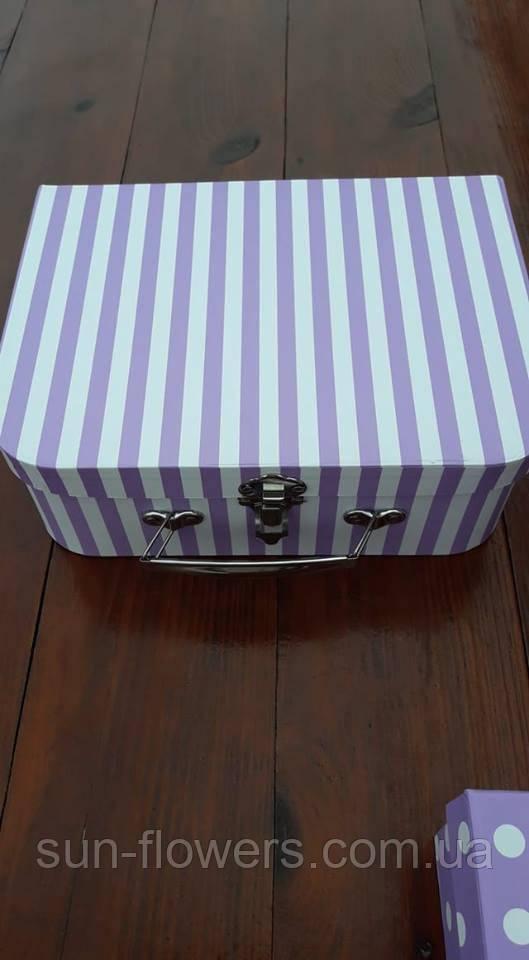 Коробка-валізка з застібкою