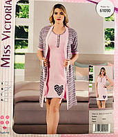 5c8848e57b5a6 Женская пижама хлопок Miss Victoria Турция размер M(46) 61090