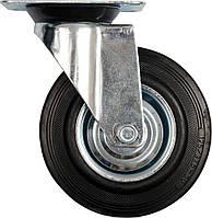 Колесо к коляске D - 125 мм, b - 34 мм с вращающейся опорой; h - 155 мм, навантаж.- 100 кг - VOREL