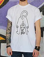 Мужская футболка белая с принтом Ripndip WE BAD  УНИСЕКС