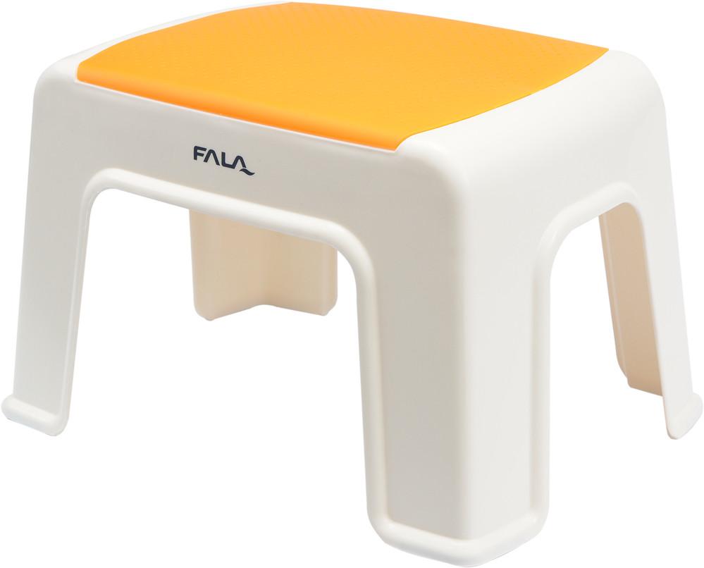 Табурет пластиковый с оранжевой плоскостью, 30 х 20 х 21 см - FALA