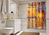 """Фото Шторка для ванной """"Венеция на рассвете"""""""