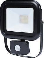 Прожектор SMD LED диодный с датчиком движения сетевой 230, 30 Вт, 2400 lm, с крепежным. скобой - VOREL