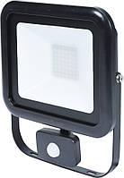 Прожектор SMD LED диодный с датчиком движения сетевой 230, 50 Вт, 4000 lm, с крепежным. скобой - VOREL, фото 1