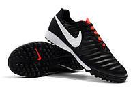 Футбольные сороконожки Nike Tiempo Legend VII Academy TF Black, фото 1