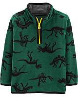 Флісовий реглан поддева для хлопчика Carters зелена динозаври