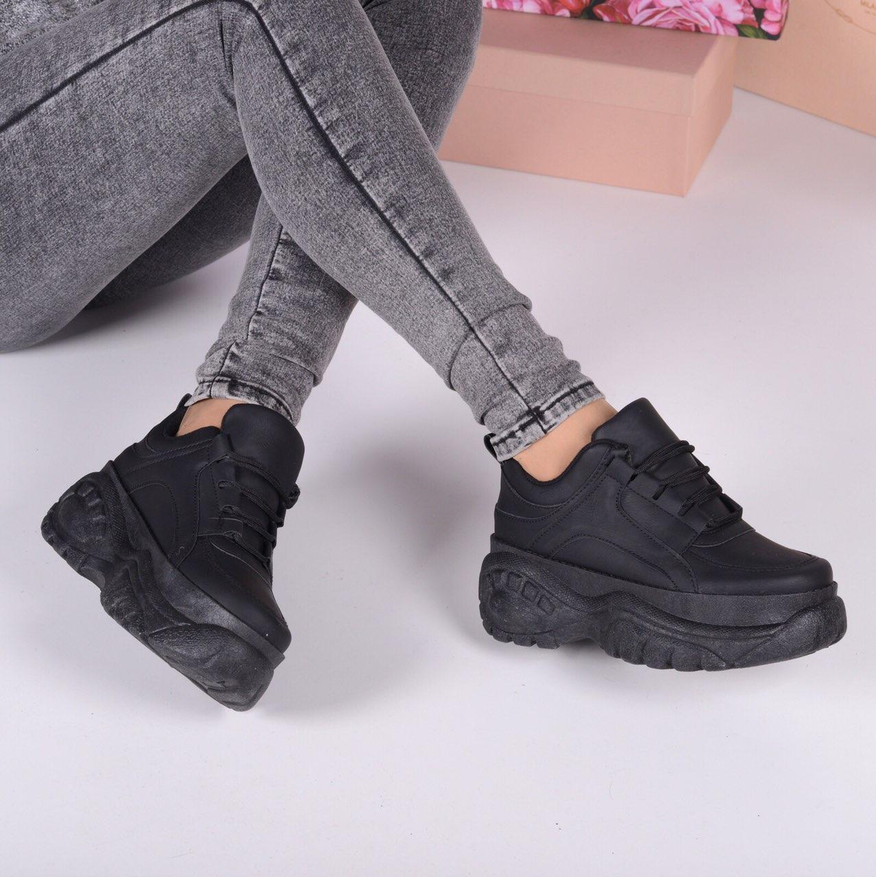 2b8a4a6e2612 Женские демисезонные чёрные кроссовки на высокой толстой подошве: продажа,  цена в ...
