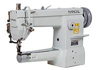 Рукавная швейная машина с врезным окантователем и тройным транспортом материала Typical GC2605
