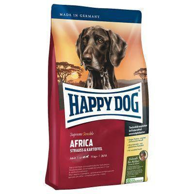 HAPPY DOG SUPREME SENSIBLE AFRICA корм для взрослых собак с чувствительным пищеварением, 12,5 кг, фото 2