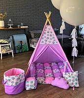"""Детская палатка - вигвам Mini Я """"Лавандовый рай"""""""
