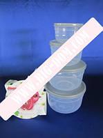 Судки круглые глубокие из 4-х Набор лотков Дуня 30015 лотки контейнеры пищевые