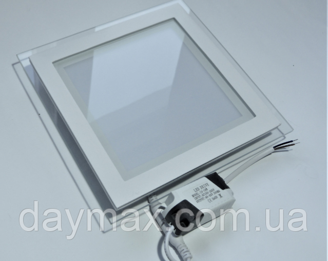 Светильник светодиодный встраиваемый LED со стеклом 6w,потолочный,квадрат MARIA-6 4200k