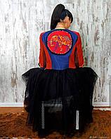 Жакет из хлопкового вельвета с вышивкой