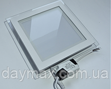 Светильник светодиодный встраиваемый LED со стеклом 15w,потолочный,квадрат MARIA-15 4200k