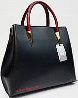 Черная сумка из эко кожи с пирамидами, фото 1