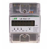 Счетчик электроэнергии трехфазный LЕ-02d CT 3×230/400В 3×5A F&F