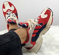 Adidas Yung-1 Chalk White/Core Red-Collegiate Navy | кроссовки женские и мужские; красные