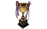 Кубок C-3019C (металл,высота 27см, d чаша 10,3см, золото)