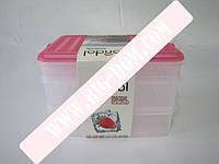 Судки квадратные с крышками Набор лотков лотки контейнеры пищевые 3 штуки G-465 из 3-х: 2х1,6л+1х0,75л